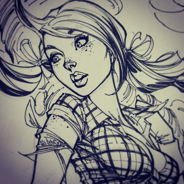 Ginger Cutie by J. Scott Campbell.