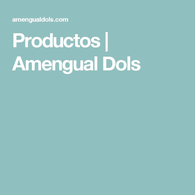 Productos | Amengual Dols