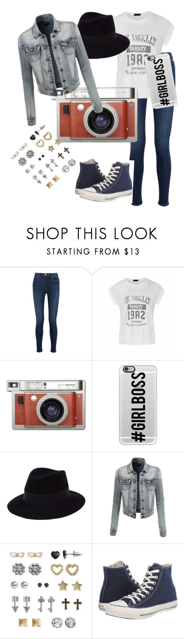 """""""Le freak chic"""" by juls22302 on Polyvore featuring J Brand, Ally Fashion, Lomography, Casetify, Maison Michel, LE3NO, SO and Converse"""