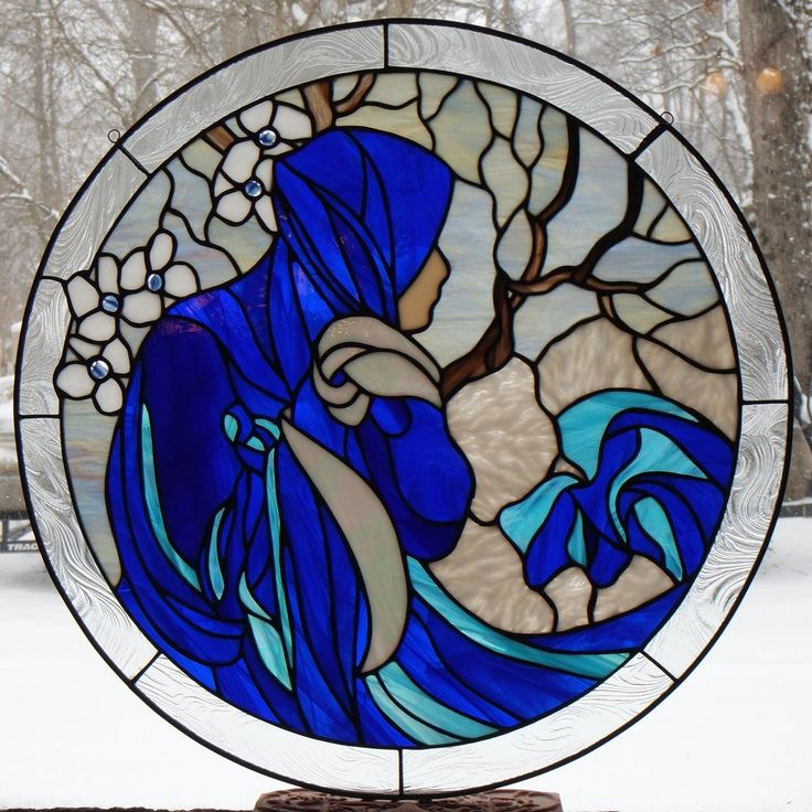 "Alphonse Mucha 1 January 24"" Stained Glass Pattern Artist Ruth Green"