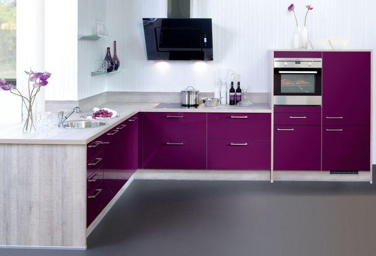 Küche in Lila #Eckküche www.dyk360-kuechen.de | Lila Küchen ... | {Küchenzeile pink 10}
