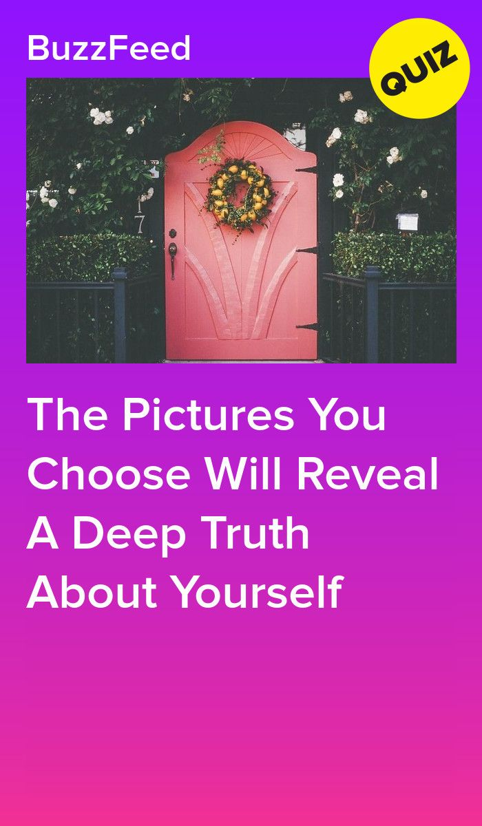 The Pictures You Choose Will Reveal A Deep Truth About Yourself