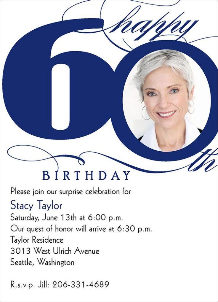 Einladungskarte zum 60. Geburtstag -ideen-traditionell-print-foto-text-standort--uhrzeit-party-feier