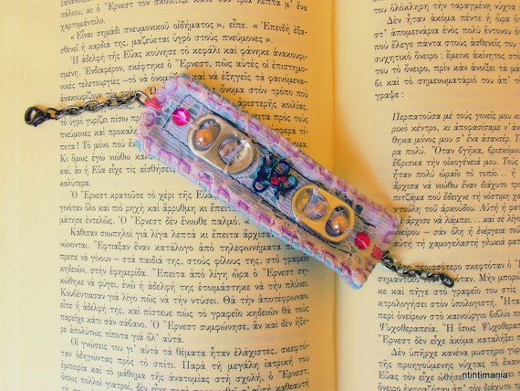 Bracelet made of recycled materials by ntintimania on Etsy