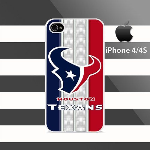 HOUSTON TEXANS Carbon Stripes iphone 4 4s Rubber Case Cover