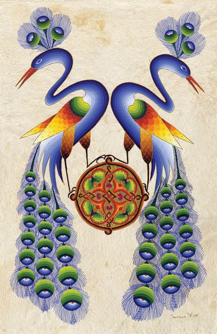 Peacocks Snake Necks by Seeroon Yeretzian
