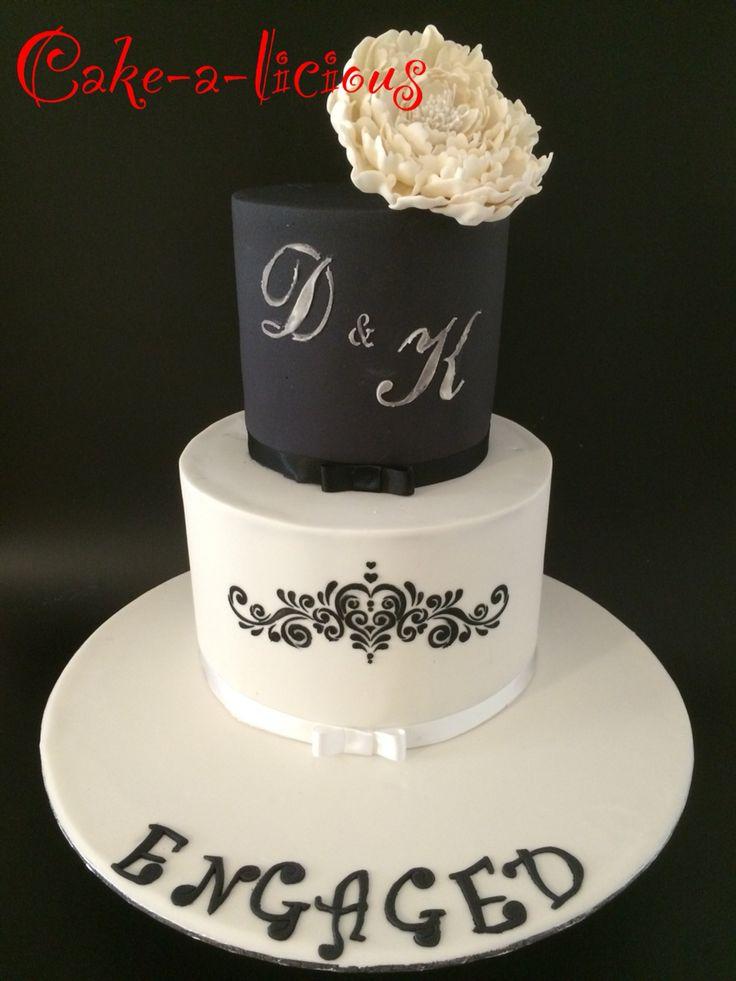 #cakealicioud #blackandwhite engagement cake