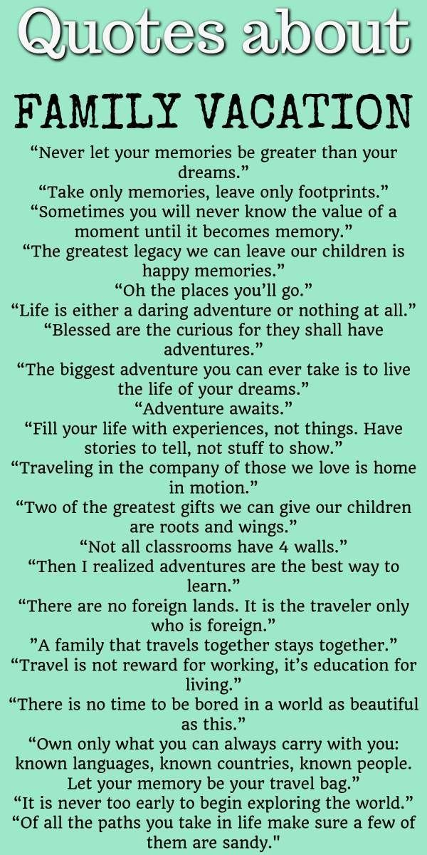 Quotes About Family Vacation Source By Valeriesmommy08 Vacation Quotes Vacation Quotes Funny Family Vacation Quotes