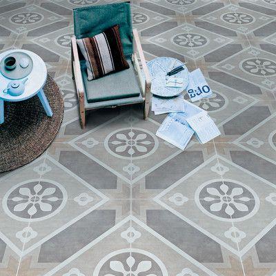 Piastrella Art Decò Persia 60 X 60 grigio, beige