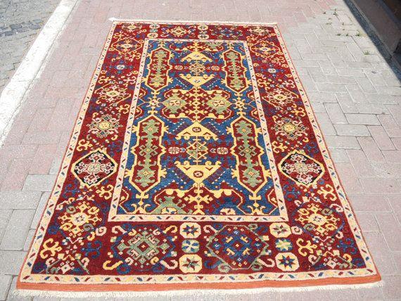 Vintage west anatolian Bergama Yuntag  hand wowen by ArasCarpet