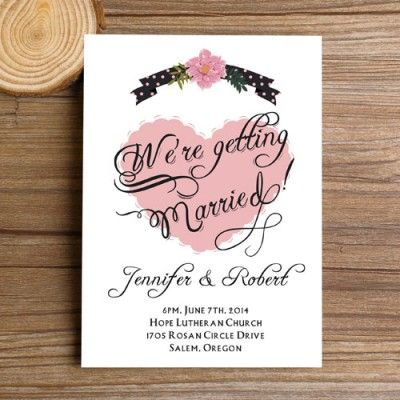 17 best ideas about heart wedding invitations on pinterest, Wedding invitations