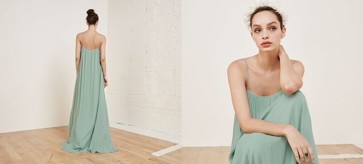 Your bridesmaids are hosting showers, parties, brunches and more showers for you - give them a dress they'll actually wear again. This is a fully lined, floor length dress with a straight neckline.