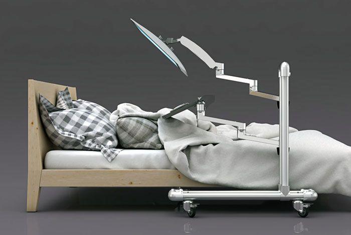 die besten 25 monitorst nder ideen auf pinterest wei e schreibtische b rogesch ft und. Black Bedroom Furniture Sets. Home Design Ideas