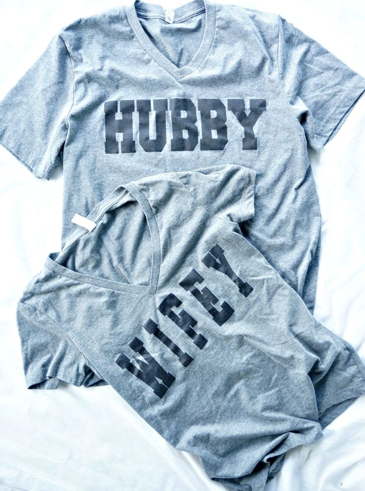 Love the matchy matchy! So cute! Hubby shirt. Wifey shirt.