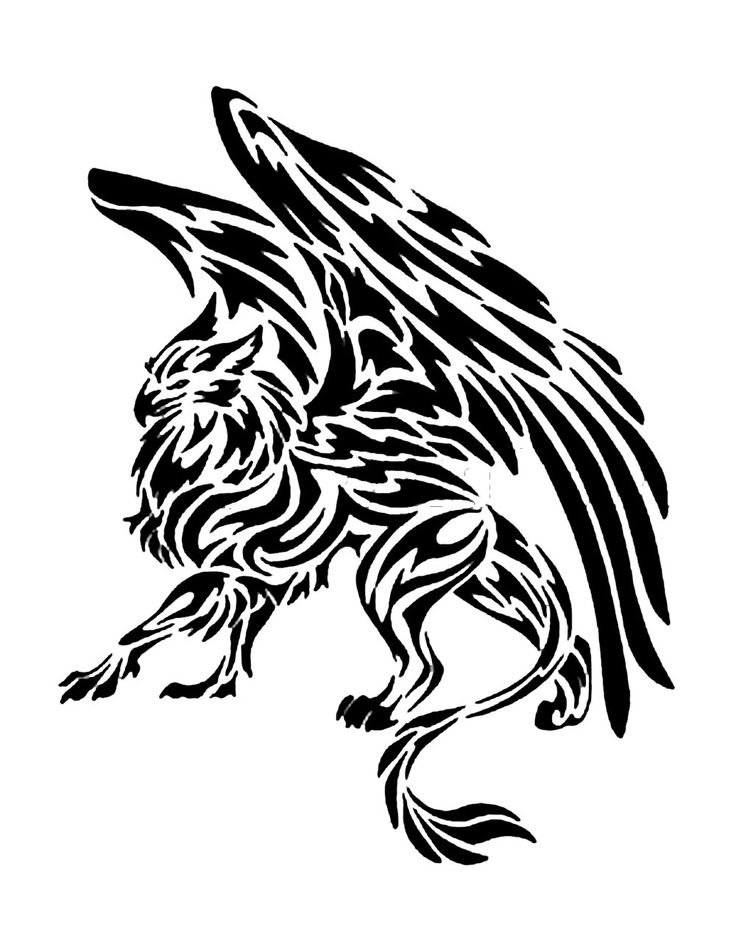 Leather Tattoo: Griffin patch custom pyrography. $10.00, via Etsy.