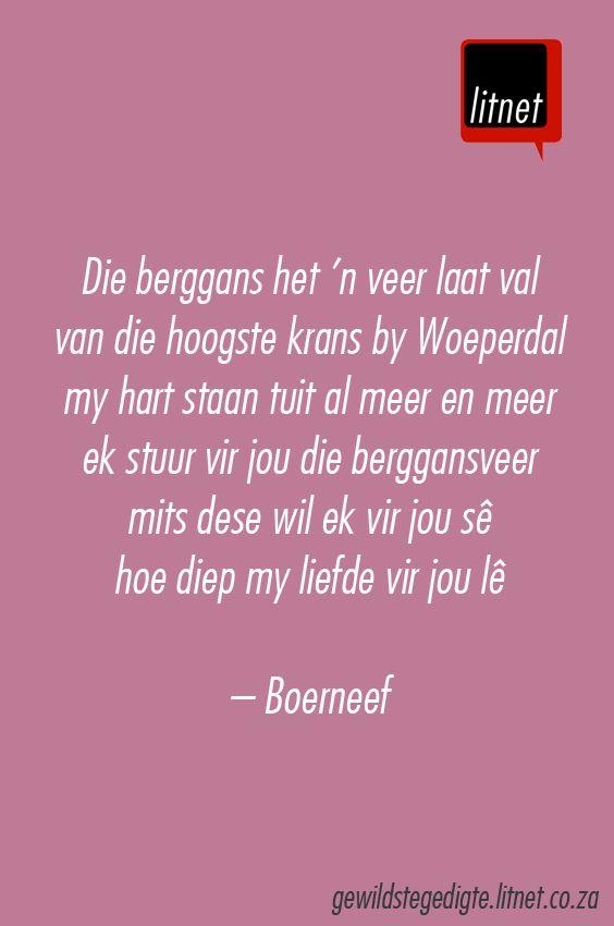 """""""Die berggans het 'n veer laat val"""" deur Boerneef (I.W. van der Merwe)…"""