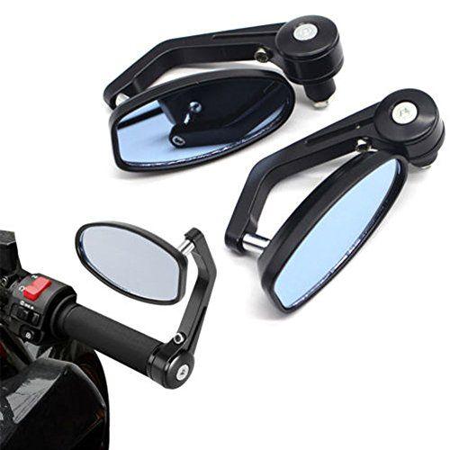 EMOTREE 2x Universal Sichtschutz Motorrad Spiegel Lenkerendenspiegel Lenkerspiegel R�ckspiegel