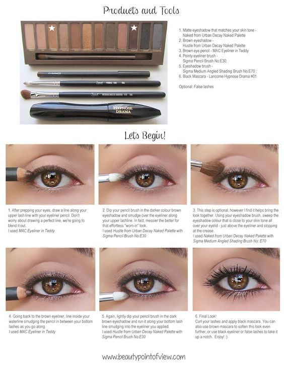 Simple Everyday Eye Makeup - I did this today and it looked great. I think the underneath liner was too much with the pencil for me, though. Next time just dark shadow.: