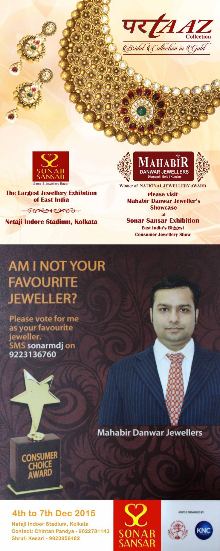 Visit to Experience PARTAAZ Collection by MAHABIR DANWAR JEWELLERS @ SONAR SANSAR, Exihibition 4-7 Dec.2015 Netaji Indore Stadium, Kolkata