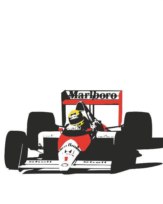 Ayrton Senna MP4/6 poster by PosterBoys on Etsy