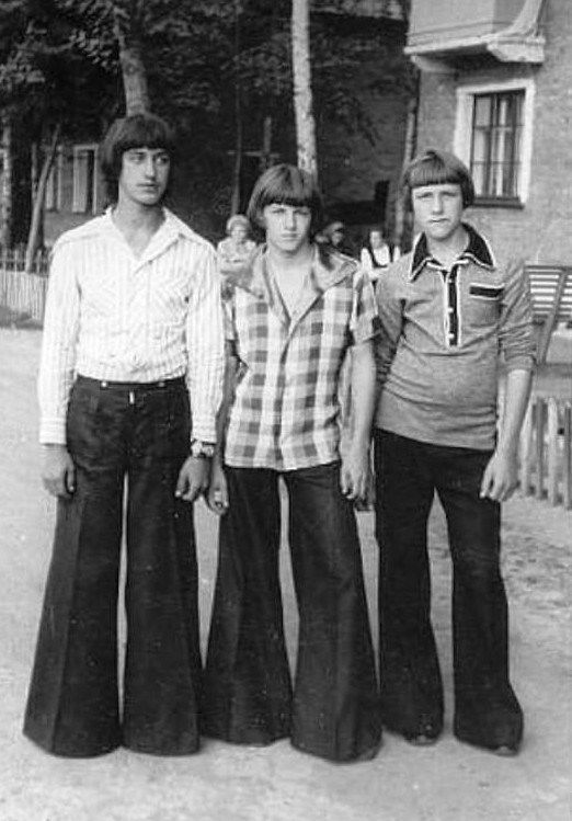 1970's in the Soviet Union. Those pants!