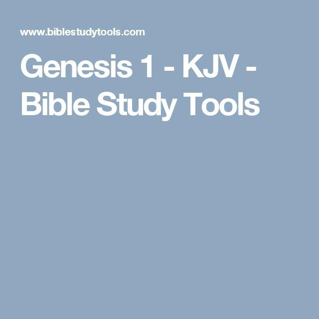 Genesis 1 - KJV - Bible Study Tools