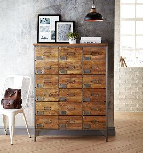 Chandler Apothecary Chest of 18 Drawers - Mango Wood | Furniture Offers | ASDA direct