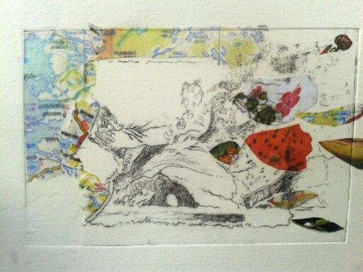 Chine colle print by Mary Cullen-Kelly