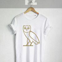 Drake Owl Shirt Drake Shirts Drake ovo Xo The Weekend Tshirt T-shirt Tee Shirt Black and White Unisex Size - NK96
