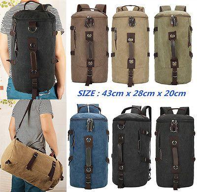 мужской новый открытый холст Рюкзаки путешествий туризм рюкзак Messenger Наплечные сумки