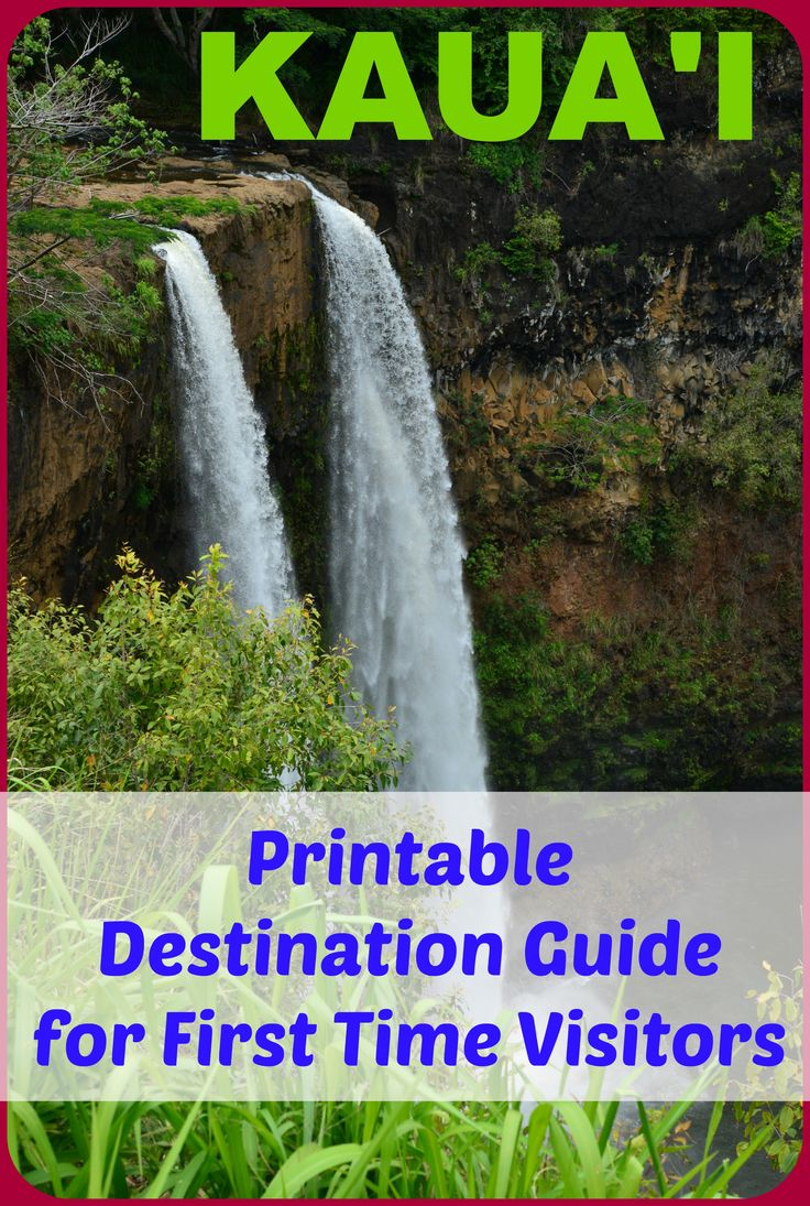 Printable quick-reference destination guide for first time visitors to Kauai (where to stay/eat, what to do/see, money saving tips, etc.). Sample 7-day itinerary included!!