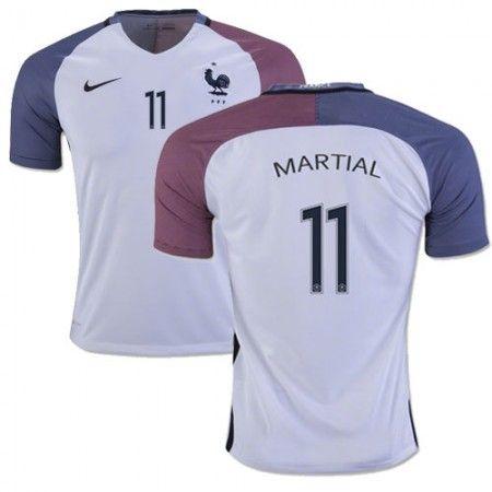 Frankrike 2016 Anthony Martial 11 Borte Drakt Kortermet.  http://www.fotballteam.com/frankrike-2016-anthony-martial-11-borte-drakt-kortermet.  #fotballdrakter