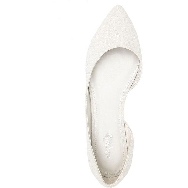 Charlotte Russe White Pointed Toe D'Orsay Flats by Charlotte Russe at... (1.400 RUB) ❤ liked on Polyvore