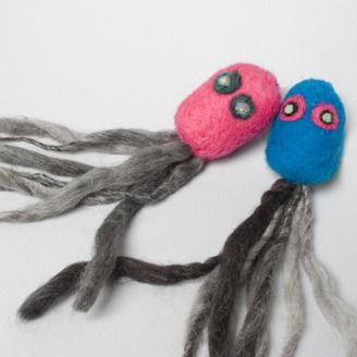 Felted Octopus by Jill Nuckles (Calgary, AB). Member of the Alberta Craft Council.