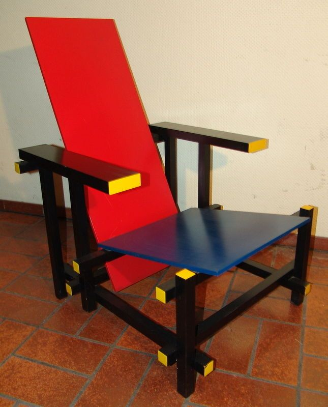 51 best rietveld chair images on pinterest de stijl for Design sessel nachbau