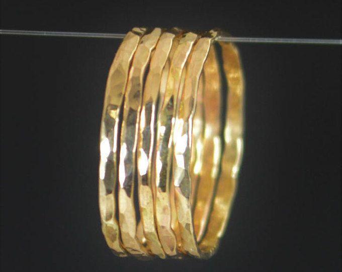 Sistema de anillo de oro fina anillos de nudillo  por galisfly
