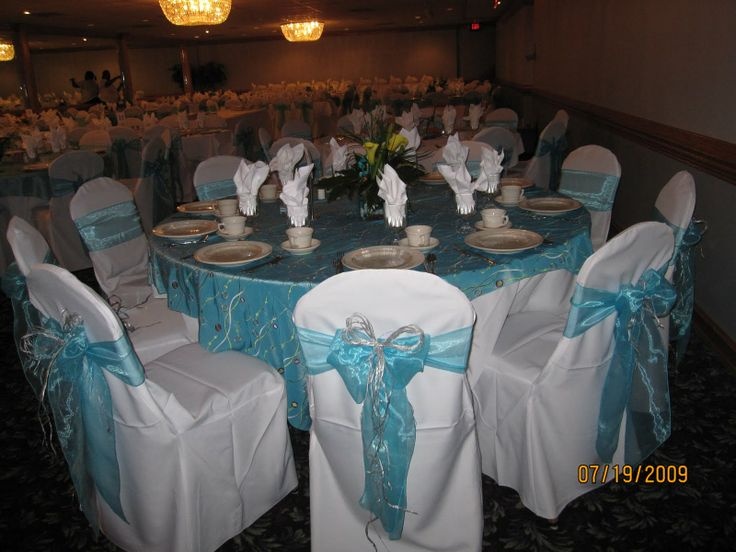 pool blue wedding cakes | ... Pool blue Orchids and a variety of tropical greens which included
