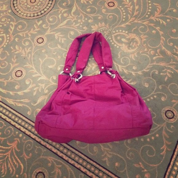 Pink Gap Handbag Purse Cherry fabric on the inside with zipper GAP Bags