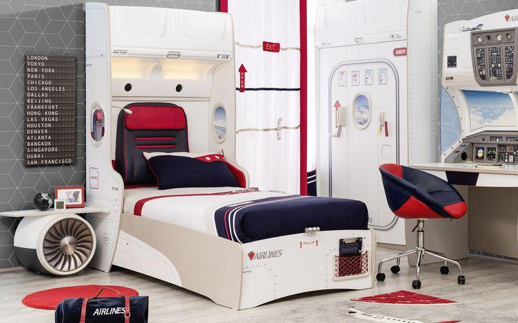 #firstclass #pilot #dekorasyon #decoration #cocukodasi #oda #room #conceptroom #flight #airline #design