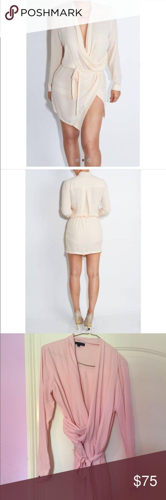 Side split Dress Beautiful! Fits me big! I can't return it. Size medium. Brand new! Rose color. Has shorts underneath. Dresses Midi