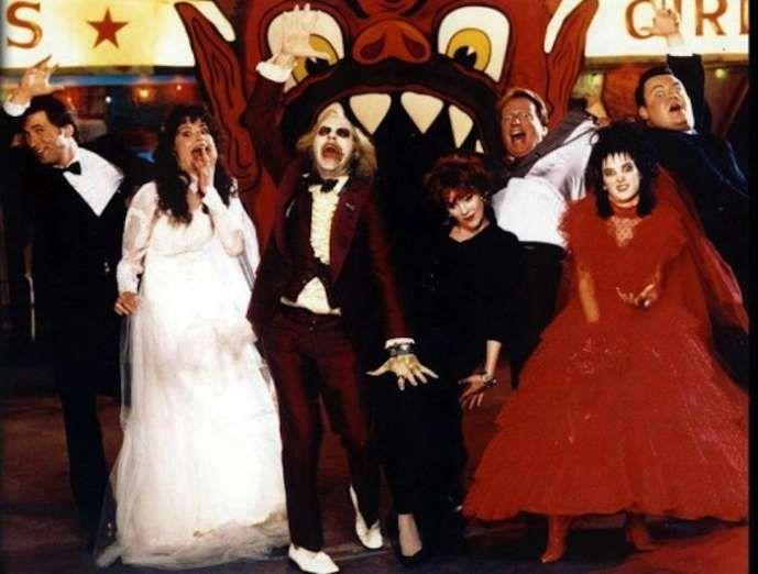 "The cast of ""Beetlejuice"" in all their glory. - Purpleclover.com"