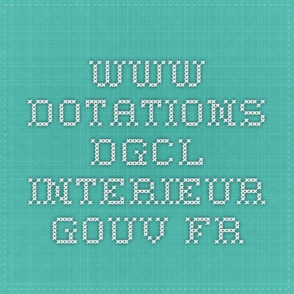 www.dotations-dgcl.interieur.gouv.fr