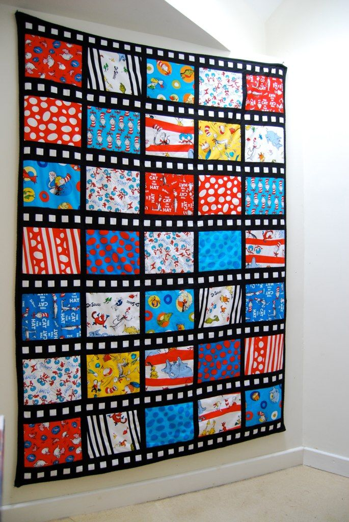 Dr Seuss comic strip quilt