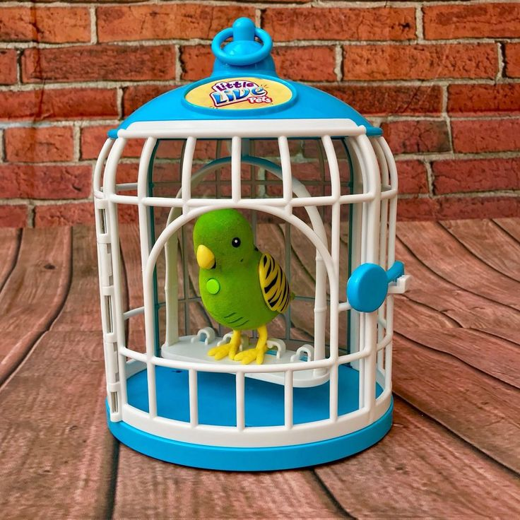 little live pets bird cage with Friendly Frankie green Bird Kids Play Toy Animal