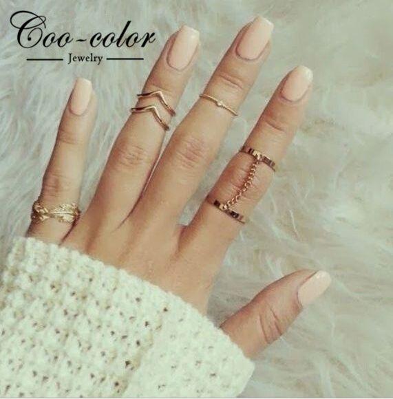 Moda jóias banhado a ouro empilhamento anéis Midi charme folha Rhinestone Midi Set anel jóias para mulheres em Anéis de Jóias no AliExpress.com | Alibaba Group