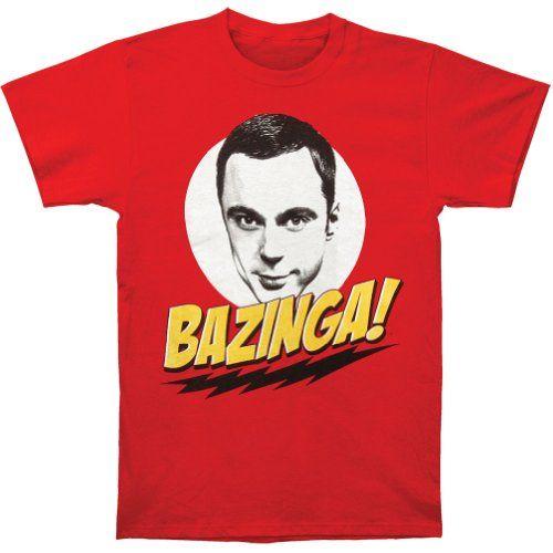 62% Off was $26.00, now is $9.99! Big Bang Theory Sheldon Bazinga! Men's T-Shirt