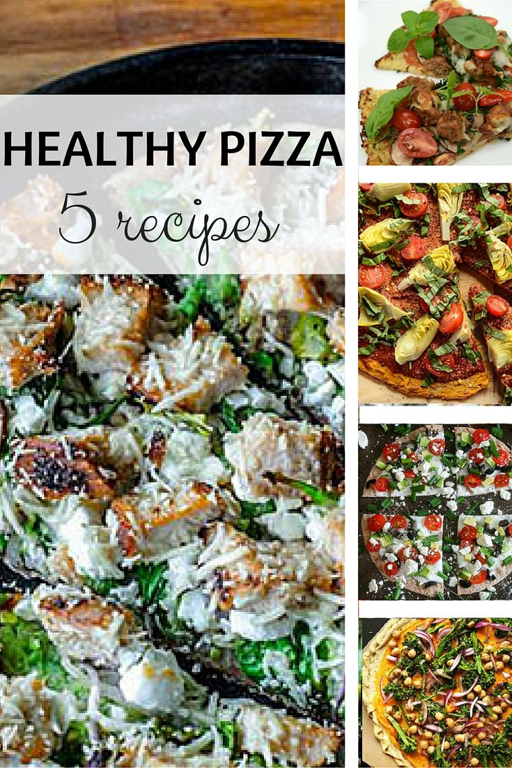 Healthy Pizza? It's Possible With These 5 Recipes. #healthypizza #healthyrecipes #pizzarecipe #everydayhealth | everydayhealth.com