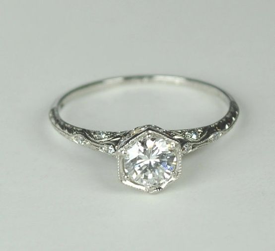 art deco ring - Click image to find more Weddings Pinterest pins