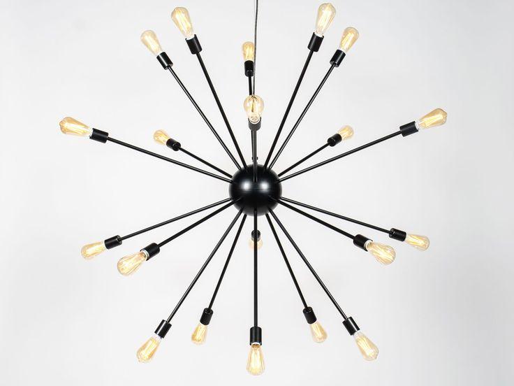 Starburst LED Edison Bulb Steel Chandelier