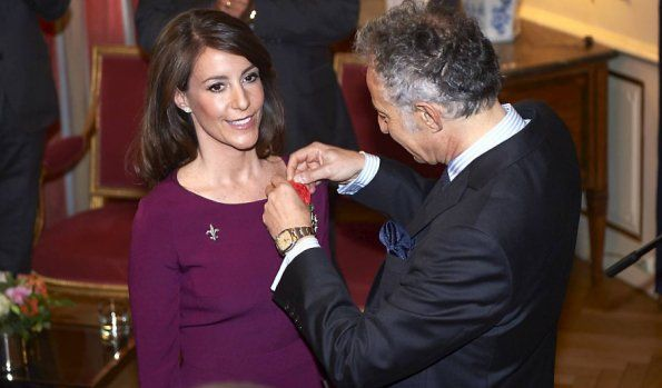 9 April 2017 - Princess Marie receives the French Order of Legion of Honour - dress by Hugo Boss